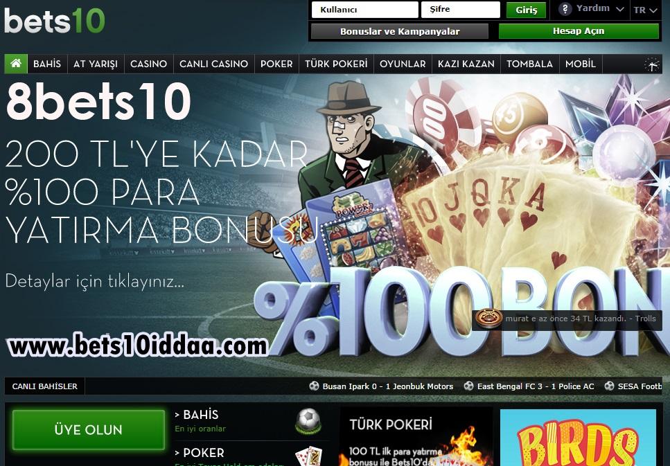 Bets10 iddaa